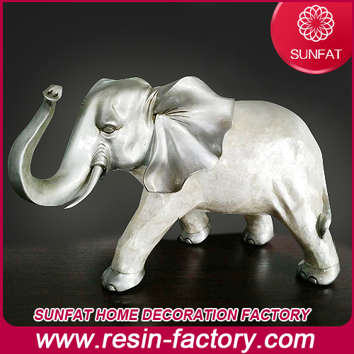 Customized Resin Elephant Figurine Statue for President Table Decoration