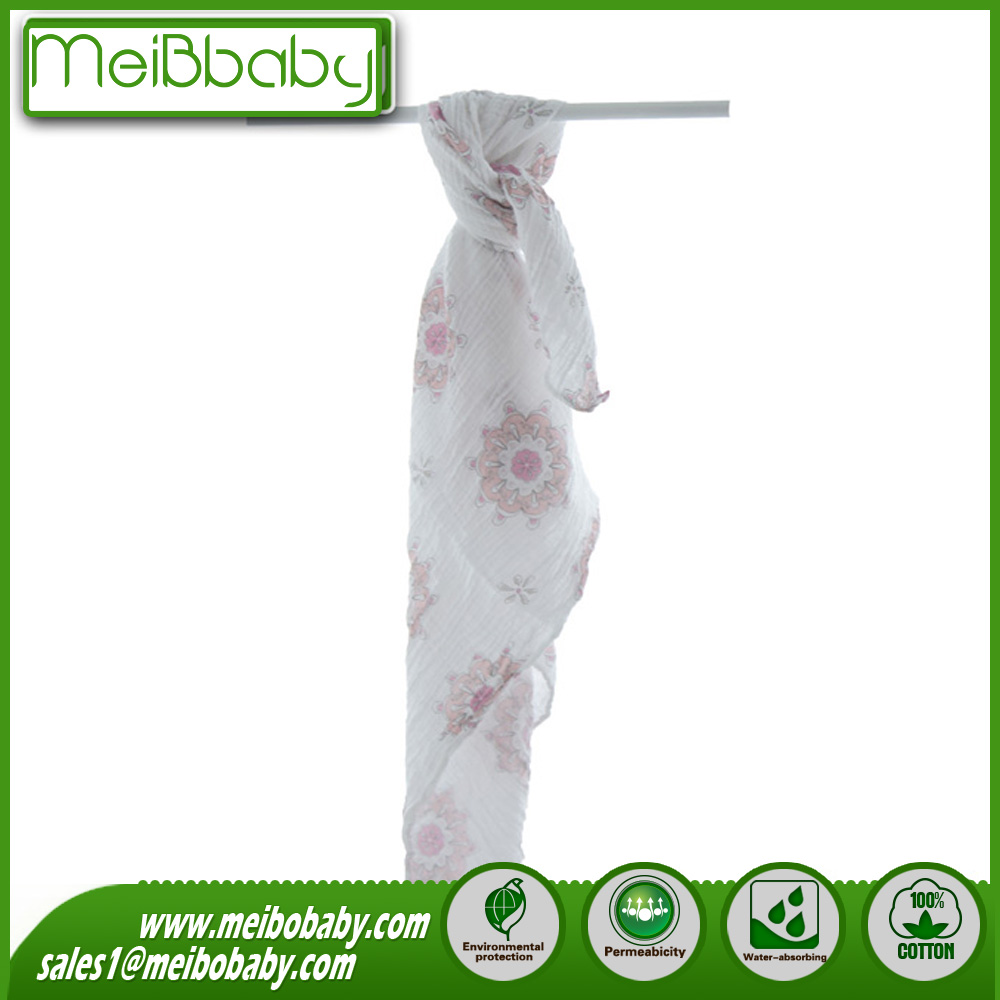 Gazue Fabric Cotton Baby Blanket Baby Muslin Wraps Prewashed