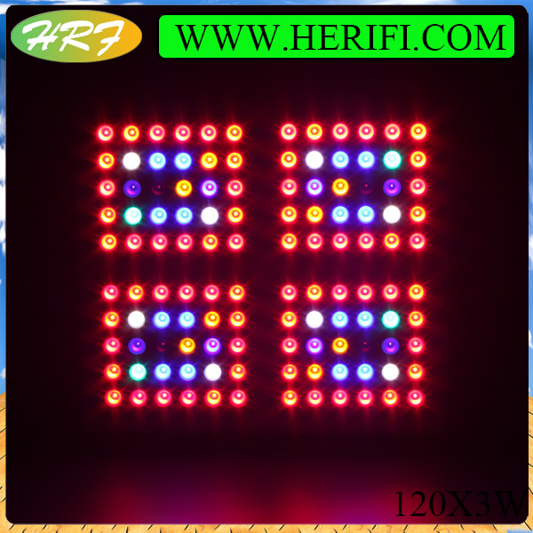 Herifi 2015 Hydroponic ZS005 120x3w LED Grow Light