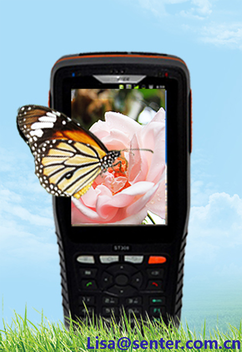 ST308 handheld terminal Android/4 core/3G/RFID barcode scanner