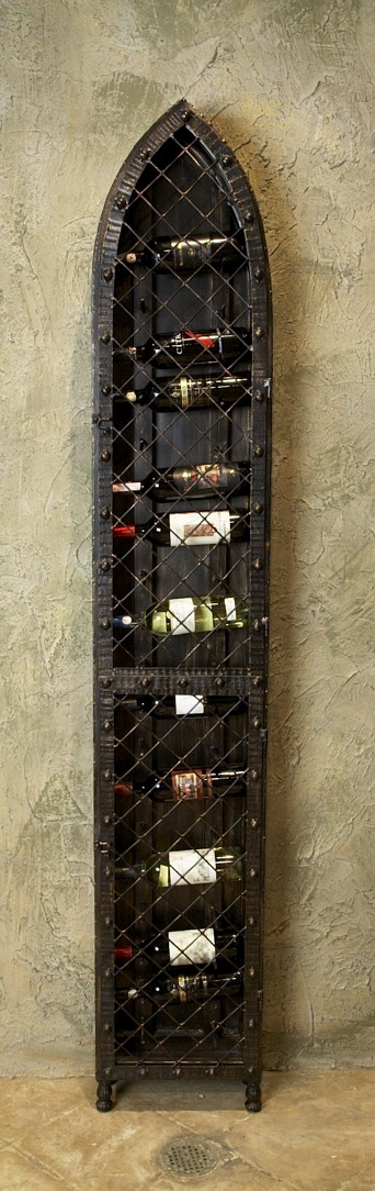 19 Bottle Wall Ship Type Iron Wine Holders Of Rack For Home Decoration