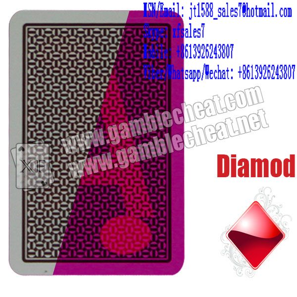 XF A Plus Plastic Poker Playing Cards With Green / Brown Color For Contact Lenses / For Poker Predictor / For Backside Camera
