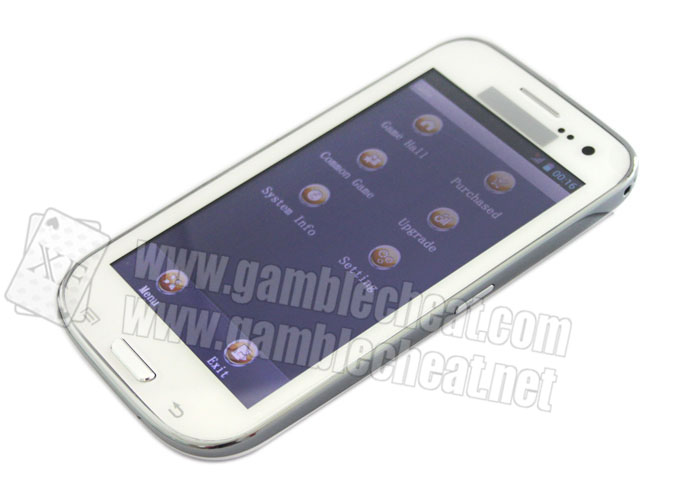 XF White Samsung S4 Mobile Phone Poker Analyzer Which Is Newest Model Of K3