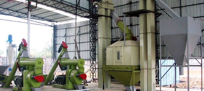 Pellet Mill example of product line Production Line
