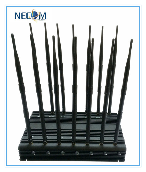 Powerful 14antennas Jammer for Mobile Phone GPS WiFi VHF UHF, Full Band Signal Jammer, Stationary Adjustable 14bands Jammer, All in One! ! !