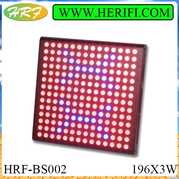 Herifi 2015 Latest Indoor light BS002 196x3w LED Grow Light Stella Liu