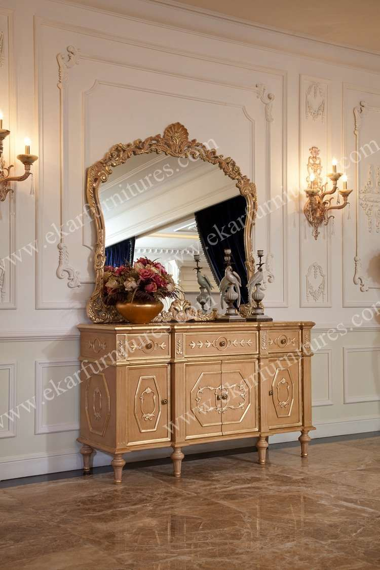 Bombes, commodes mirrored furniture vintage style vanity cabinet