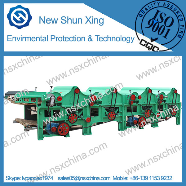 Four Roller Cotton Waste Recycling Machine NSX-QT410