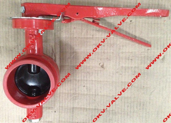 Grooved end butterfly valve valves mechanical components