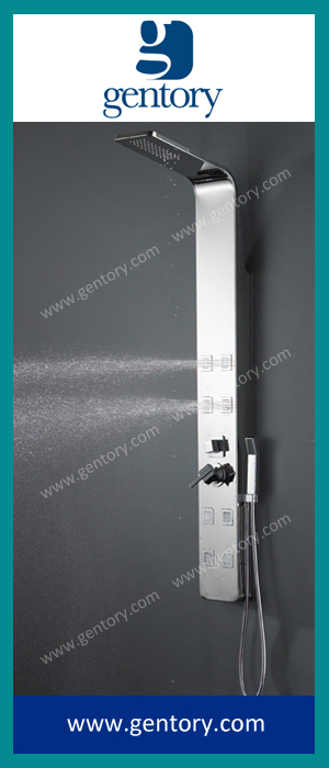 Stainless Steel Chrome Mirror Finish Shower Panel with Massage Jets S158