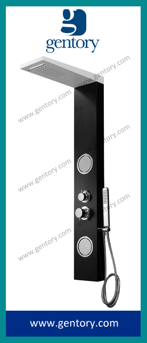 White & Black Painted Aluminium Alloy Shower Panel Shower Faucet