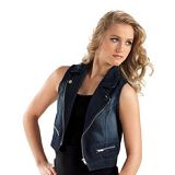 Dance Zip-front Denim Vest