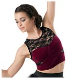Dance Velvet Cross Front Crop Top
