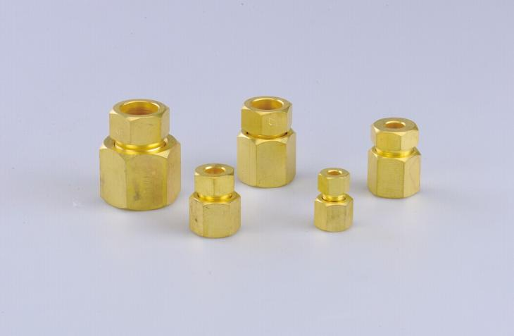 Referigeration Brass Fittings Coupling Nuts