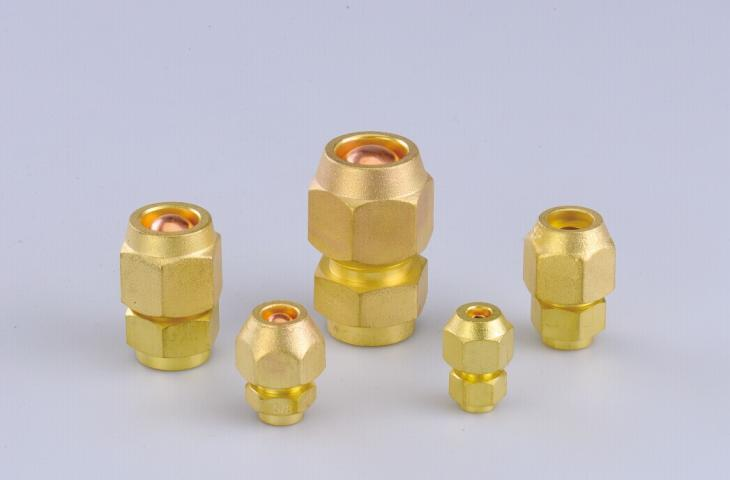 Refrigeration Parts Brass Lock Nut