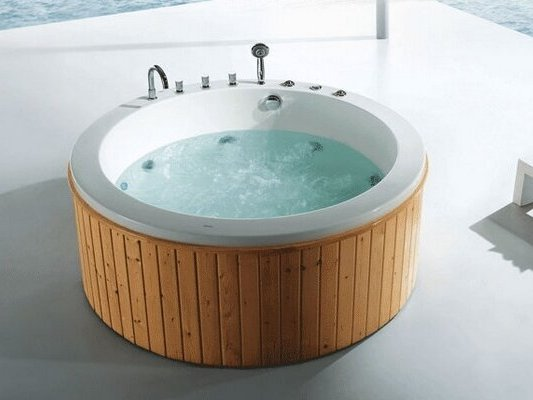 U-BATH freestanding round massage bathtub portable spa bathtub