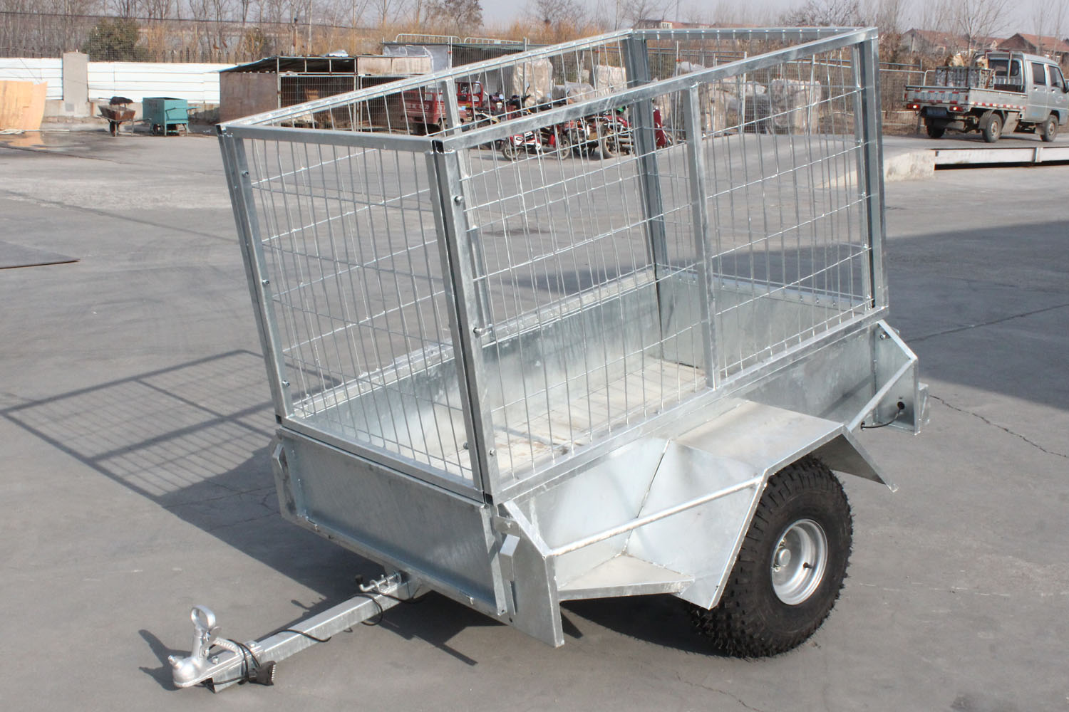 galvanized steel tradesman tool box trailer