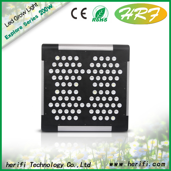200W led grow light for hydroponic plants veg and flowers