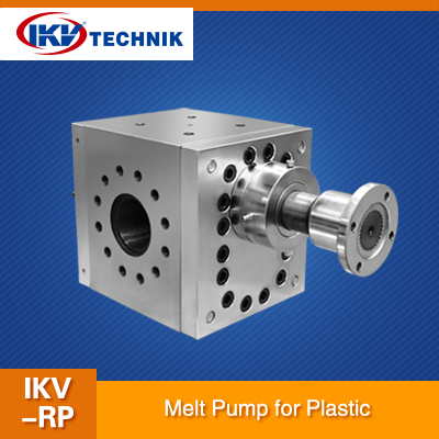 The characteristics of the melt pump different components
