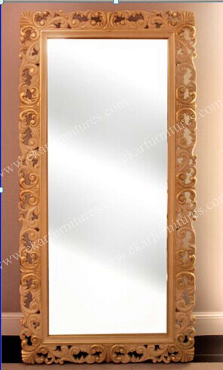 Decorative Floor Mirror Golden Veil finish