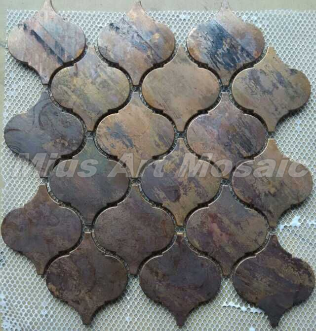 copper mosaic tile backsplash A6YB110