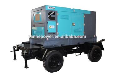 Four Wheel Trailer Diesel Generator Set