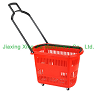 plastic shopping basket with wheels PL004 600X350X360mm Volume: 42L