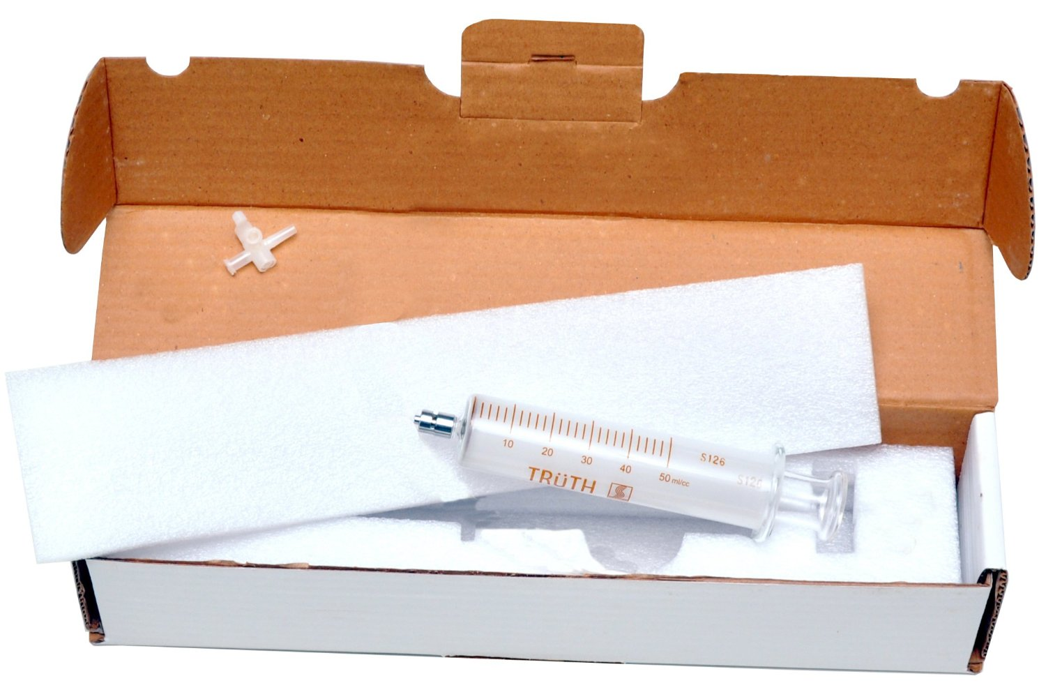 50ml DGA TRUTH Glass Syringe - 3 Way Stopcock - Padded Carrying Case