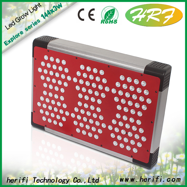 Herifi 2015 Updated full spectrum light Explore Series 400w led grow light