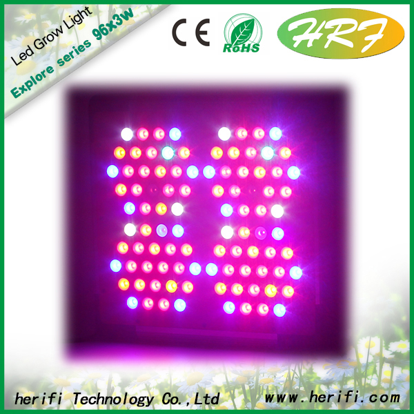 Herifi 2015 Latest indoor plant light  Explore Series EP004 96x3w LED Grow Light