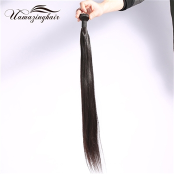 Grade 7A Brazilian Virgin Hair Straight Unprocessed 1 Bundle/100g Lot Free Shipping