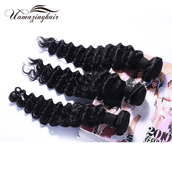 7A H-Quality Brazilian Virgin Hair Deep Wave Unprocessed Virgin Human Hair Weave 4 Bundles/400g Lot