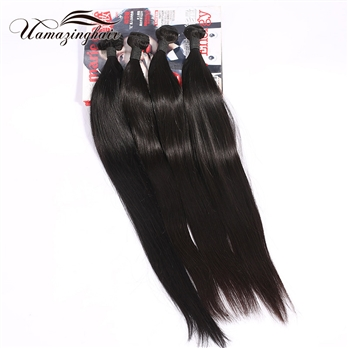 7A Brazilian Virgin Human Hair Weave Unprocessed Straight4 bundles/400g Free Shipping