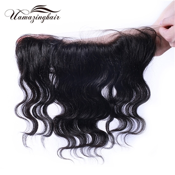 Indian virgin hair Body Wave 13*4 Lace frontal