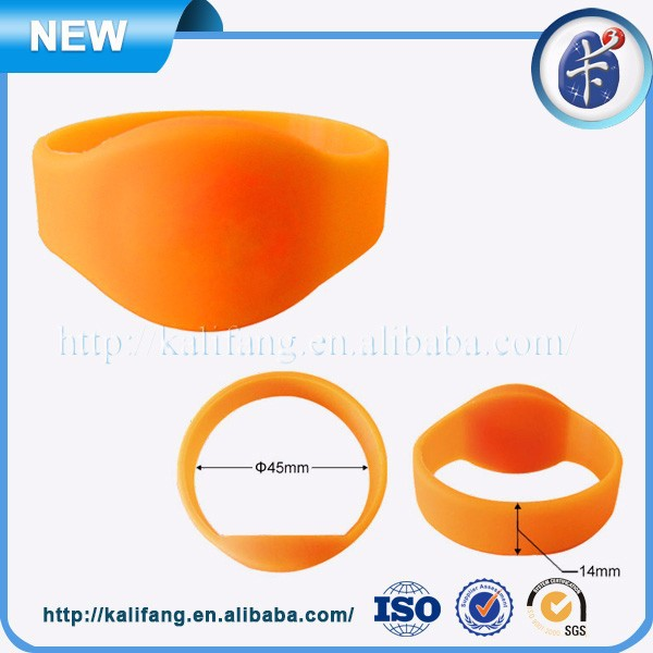 rfid wristbands for events Silicone 13.56mhz RFID Wristband