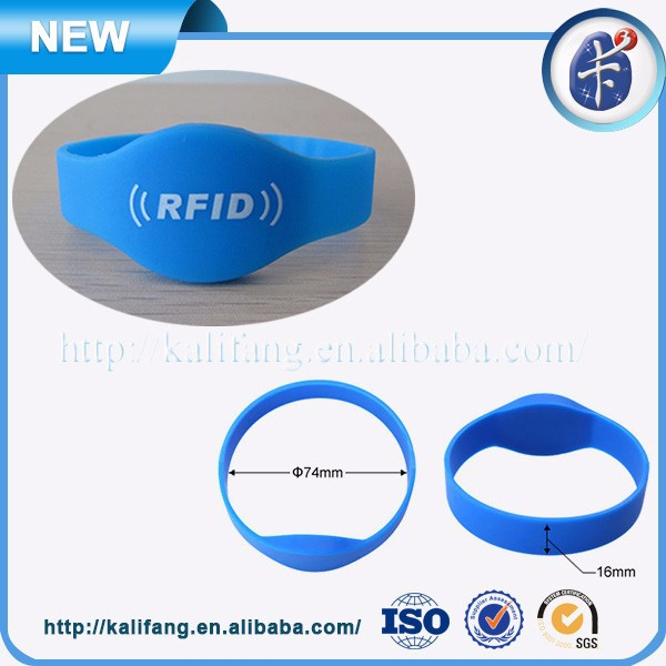 Silicone Closed Type NTAG203 NFC Wristband