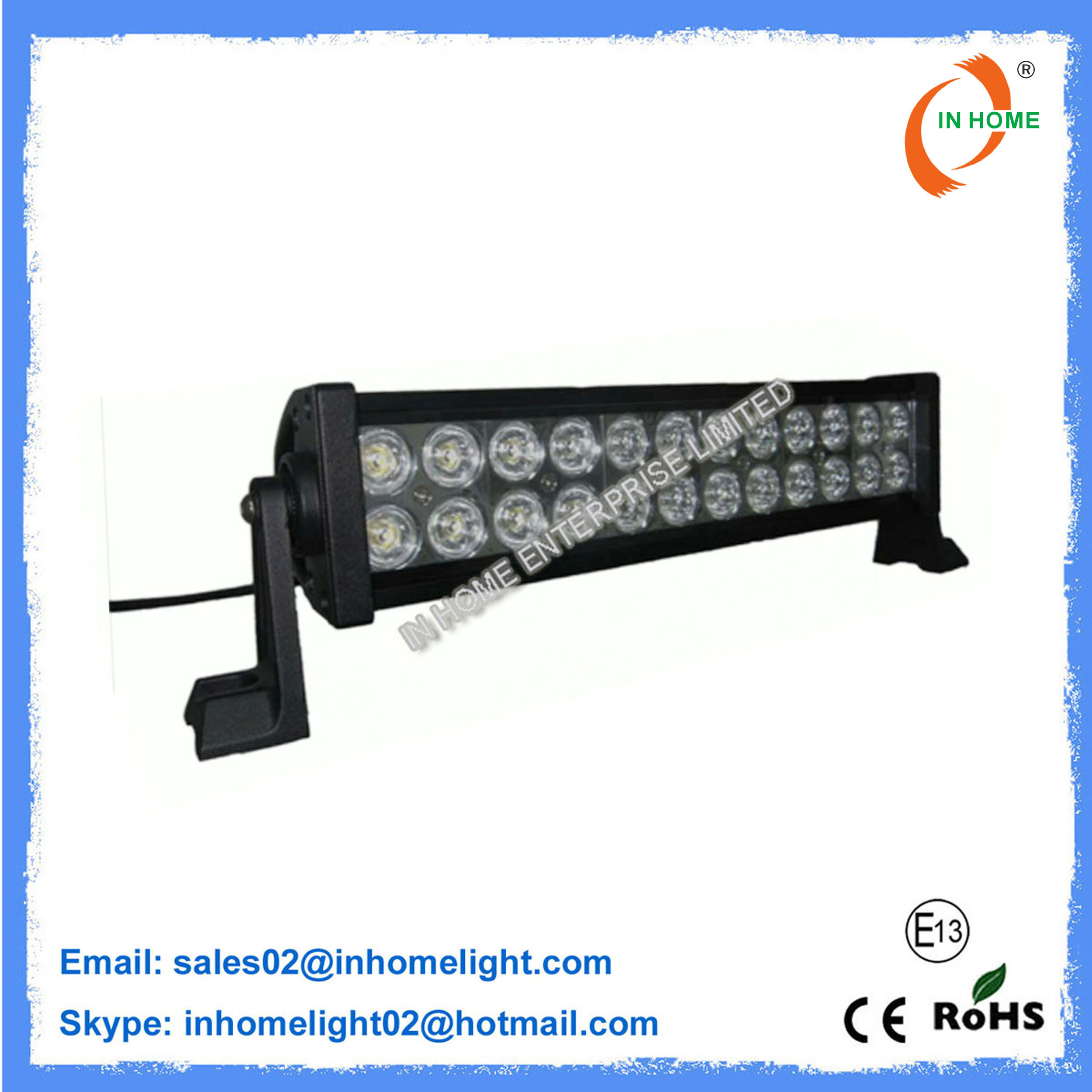 Light Bar Flush Mount Off Road 72W LED Work Light Bar