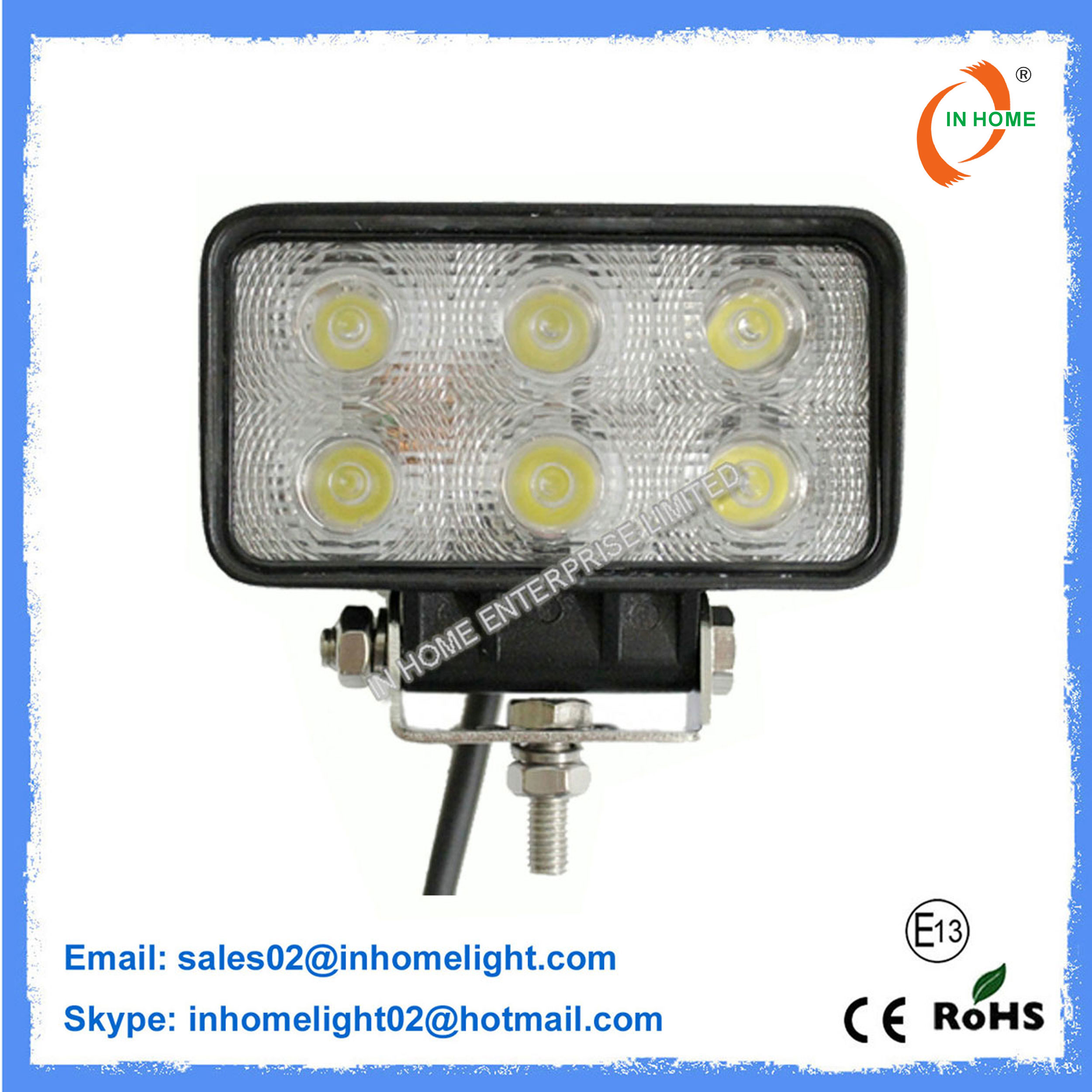 Round Work Light IP67 LED Work Lights 51W 4680LM LED Off Road Light
