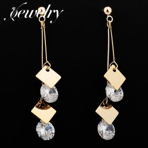 Zircon Copper Drop Earrings   TE0093