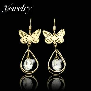 Zircon Copper Drop Earrings E0179