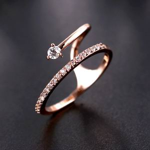 Zircon Copper Ring  GSJ0006