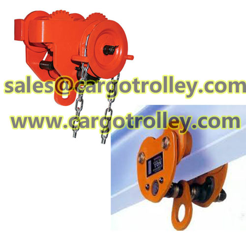 Geared beam trolleys applications