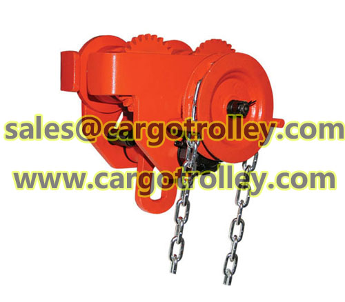Hoist geared trolleys price list