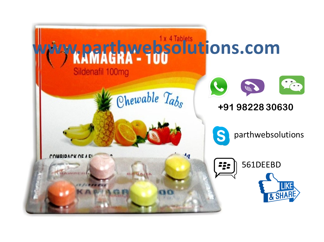 Kamagra Chewable (Sildenafil Citrate Tablets)