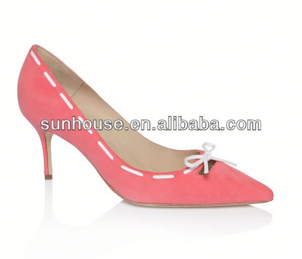 Suede Lining Lady High Heel Dress Shoes