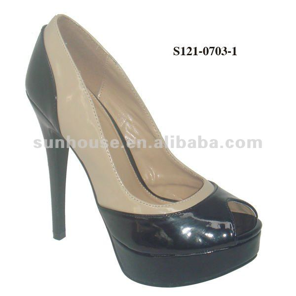 PU Lady High Heel Dress Shoes
