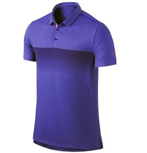 100% Polyester 180gsm Moisture Wicking Sublimation Short Sleeve Polo Shirt