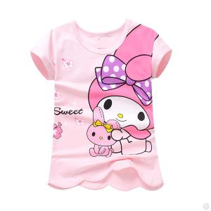 little girl t shirts 100% Cotton Full Printing Little Girl T Shirt