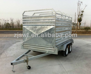 straight deck cattle trailer Cattle Crate Trailer