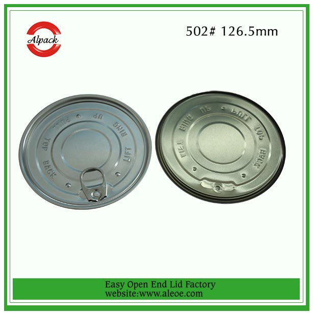 502#126.5mm aluminum Easy Open End for Milk Powder Can Factory